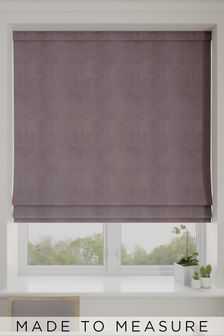Soft Velour Mauve Purple Made To Measure Roman Blind