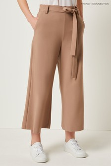 French Connection Brown Whisper Ruth Croppd Flare Trouser