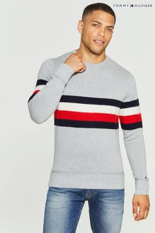 Tommy Hilfiger Grey Global Stripe Sweater