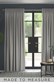 Made To Measure Silver Cotton Curtains