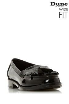 Dune London Black Greatly Wide Fit Fringe Tassel Loafers