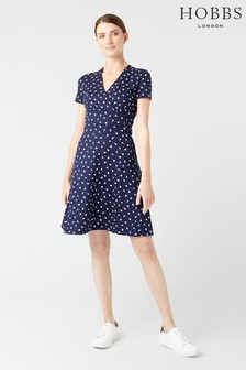 Hobbs Blue Darcie Dress