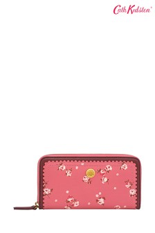 Cath Kidston® Pink Wimbourne Scalloped Leather Wallet