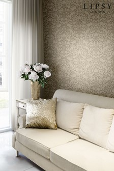 Lipsy Luxe Damask Champagne Wallpaper