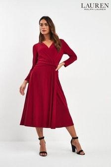 فستان Zanahary أحمر من Ralph Lauren