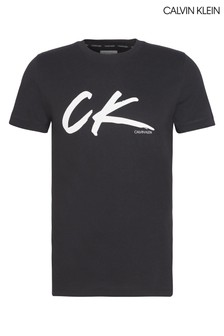 Calvin Klein Black Wave Retro T-Shirt