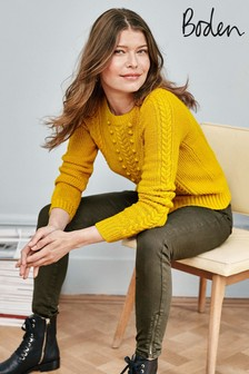 Boden Yellow Elodie Jumper