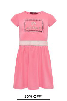 Aigner Girls Pink Cotton Dress