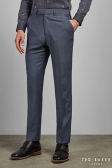Ted Baker Blue Sterling Plain Trousers