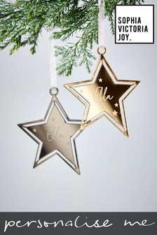 Personalised Star Decoration by Sophia Victoria Joy