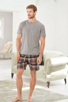 Check Woven Short Pyjama Set