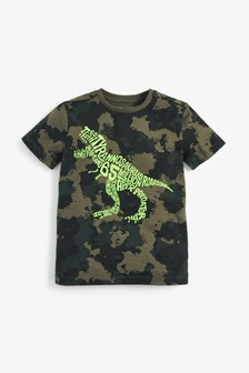 Flocked Dino T-Shirt (3-14yrs)
