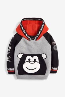Monkey Pocket Hoody (3mths-7yrs)