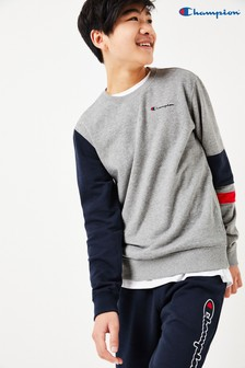Champion Colourblock Sweater With Small Script Logo