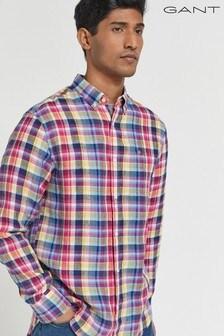GANT Regular Linen Madras Shirt
