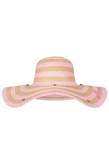 Monnalisa Girls Beige Beach Hat
