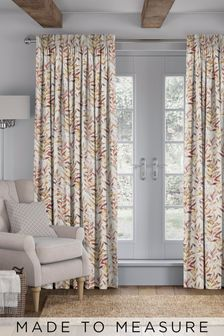 Asara Coral Orange Made To Measure Curtains