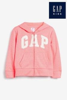 Gap Neon Arch Logo Zip Through Hoodie