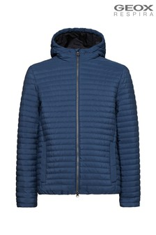 Geox Men's Kennet Blue Hood Jacket