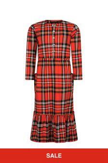 Mini Rodini Girls Red Cotton Dress