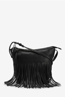 Fringed Bucket Bag