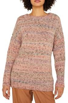 Esprit Purple Multicolored Long Sleeved Sweater