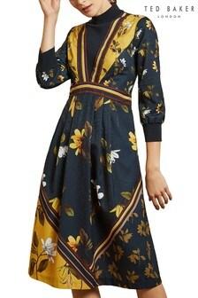 Ted Baker Juudyy Savanna Mockable Neck Midi Dress