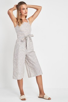 Stripe Pocket Jumpsuit