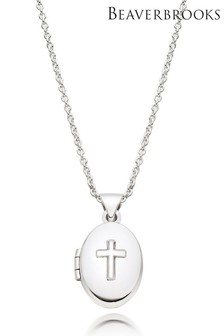 Beaverbrooks Children's Silver Cross Locket