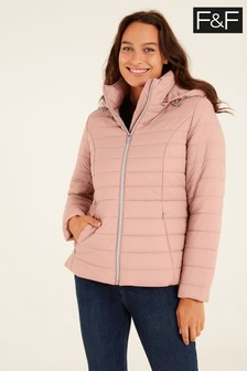 F&F Blush Pink Short Padded Coat