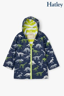 Hatley Blue Dino Fossils Colour Changing Splash Jacket