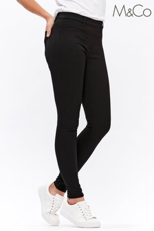 M&Co Black Flat Front Jeggings