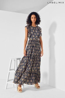 Mix/Scotch & Soda Printed Maxi Dress