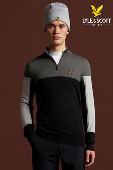 Lyle & Scott Golf Moffat 1/4 Zip Pullover Jumper