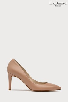 L.K.Bennett Nude Floret Trench Leather Pointed Toe Courts