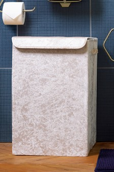 Velour Laundry Hamper