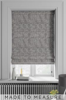 Metallic Geo Silver Grey Made To Measure Roman Blind