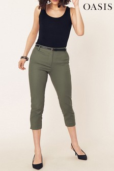 Oasis Green Capri Trouser