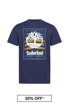 Timberland Navy Cotton T-Shirt