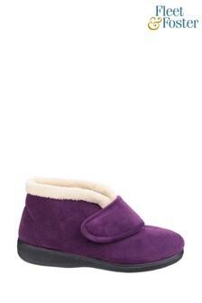 Fleet & Foster Purple Levitt Bootie Slippers