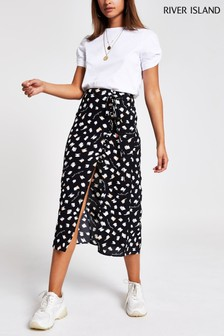 River Island by Caroline Flack Annie Button Skirt