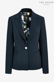 Ted Baker Blue Skye Ottoman Panel Side Jacket