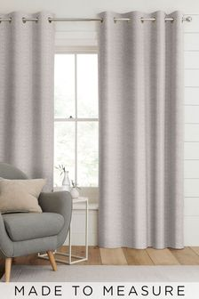 Aria Pewter Natural Made To Measure Curtains