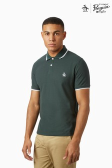 Original Penguin® Polo Tipped Collar Shirt, Featuring Pete The Penguin Chest Logo Placement