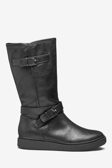 Crepe Sole Knee High Boots
