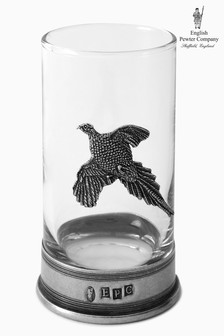 English Pewter Company 8¾oz Tumbler With Pheasant Emblem
