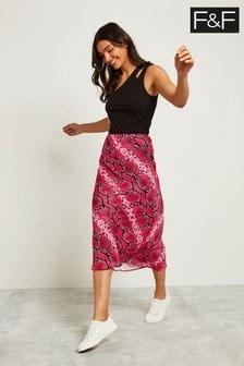 F&F Pink Snake Slip Skirt