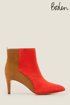 Boden Red Bracknell Ankle Boots