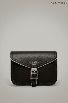 Jack Wills Black Carlton Cross Body Bag