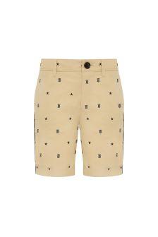 Burberry Kids Boys Beige Cotton Shorts